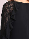 Women'S Elegant Long Sleeves Maxi Fishtail Evening Dress-Black 5