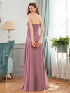 Elegant One Shoulder A-Line Evening Dresses With Applique-Purple Orchid 2