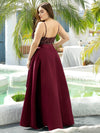 Sparkly Plus Size Prom Dresses For Women With Irregular Hem-Burgundy 2