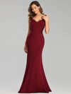 Sexy Sleeveless Long Mermaid Evening Dresses-Burgundy 3