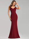 Sexy Sleeveless Long Mermaid Evening Dresses-Burgundy 4