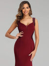 Sexy Sleeveless Long Mermaid Evening Dresses-Burgundy 5