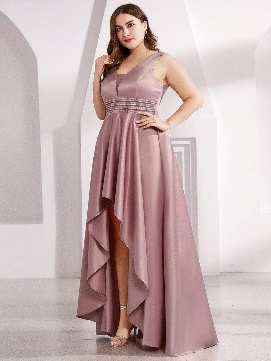 Plus Size Asymmetric High Low Dresses for Cocktail Party   Ever ...