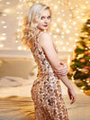 Mermaid Sequin Dresses For Women-Rose Gold 9