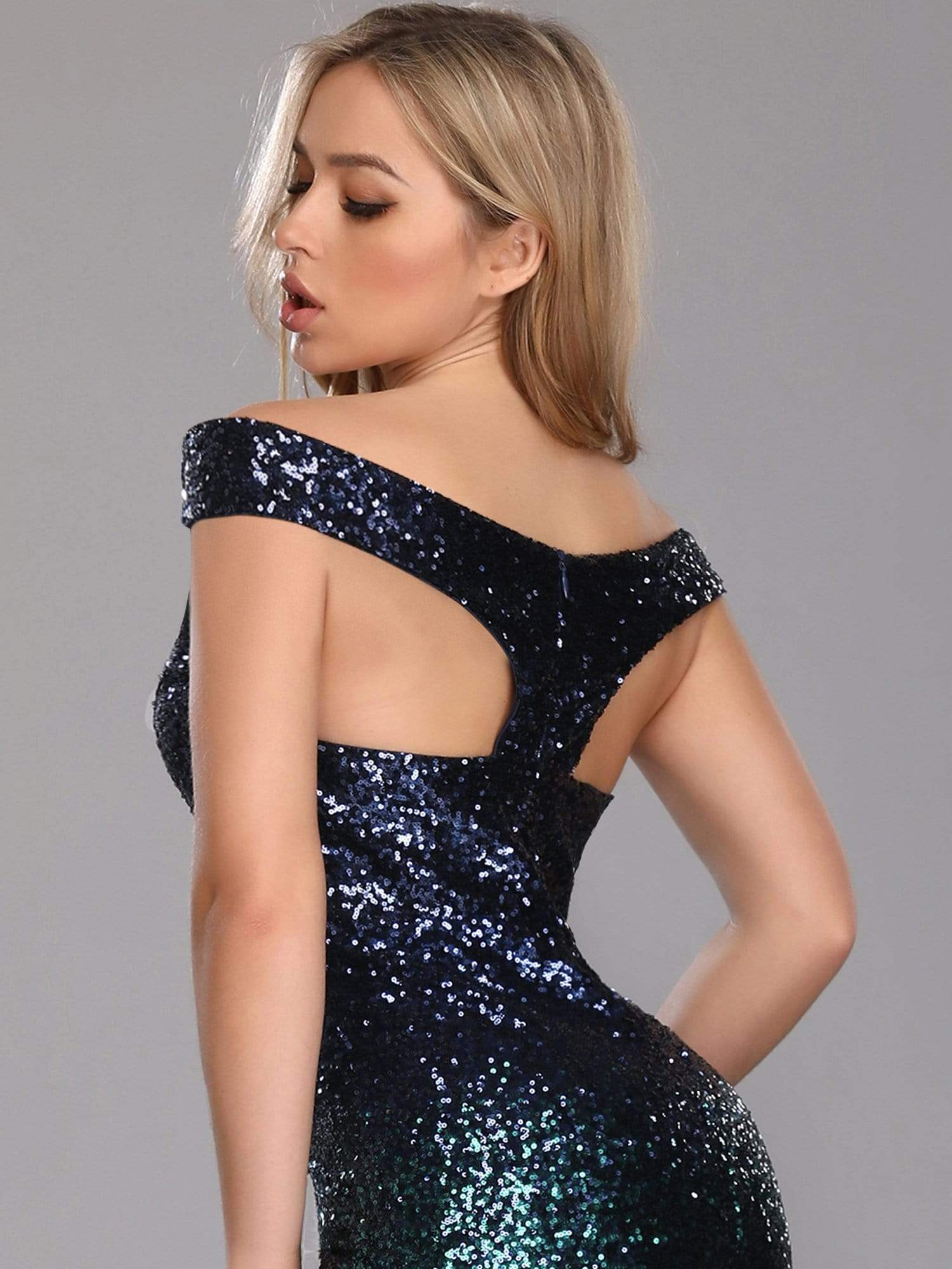 Evening Gowns for Women Fishtail Sequin Off the Shoulder - Ever Pretty AU