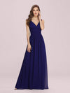 Sleeveless V-Neck Semi-Formal Chiffon Maxi Dress-Royal Blue 1