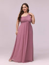 One Shoulder Evening Dress-Purple Orchid 3