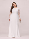 Fishtail Dresses With Long Lace Sleeve-Cream 4