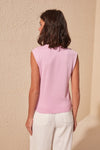Women'S Round Neck Sleeveless Blouse Tank Tops-Lilac 5