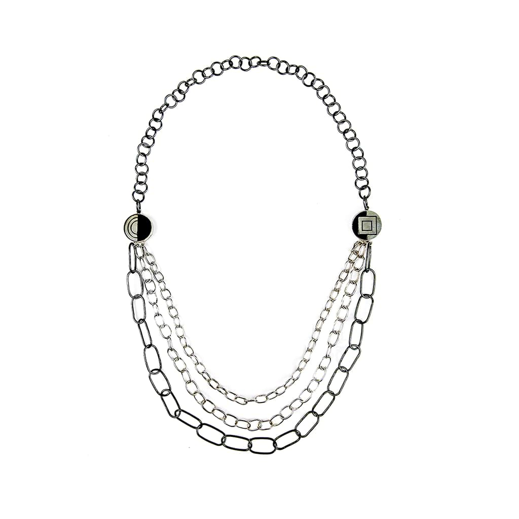 Necklace with Three Layer Chain