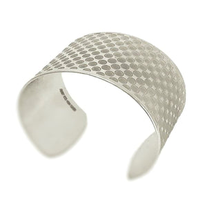 Gradient silver cuff polished