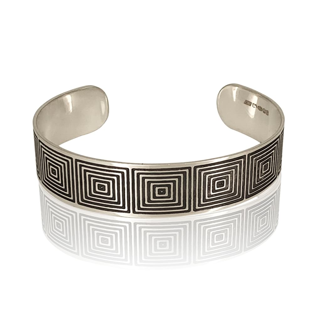 OPTICAL CUFF  BRACELET NARROW FLAT