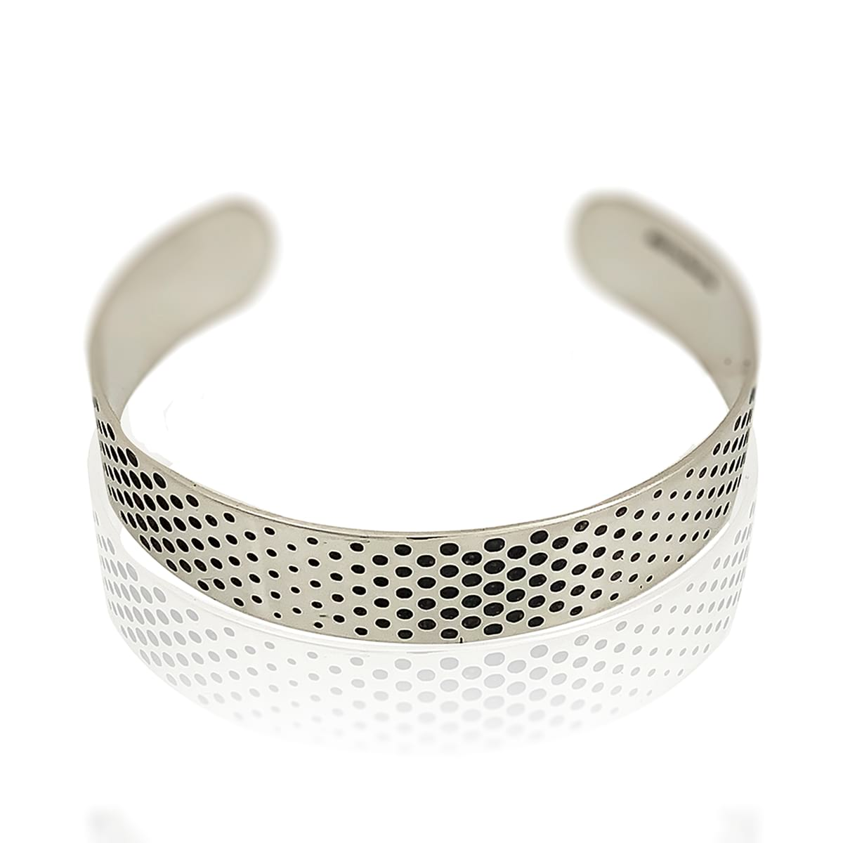dots silver cuff narrow on white background