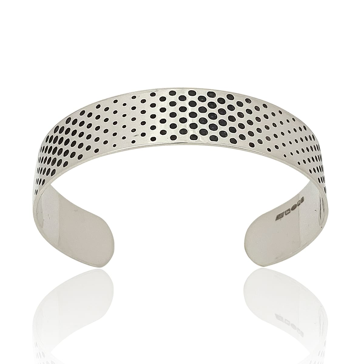 Dots Silver Cuff Bracelet OPTIC