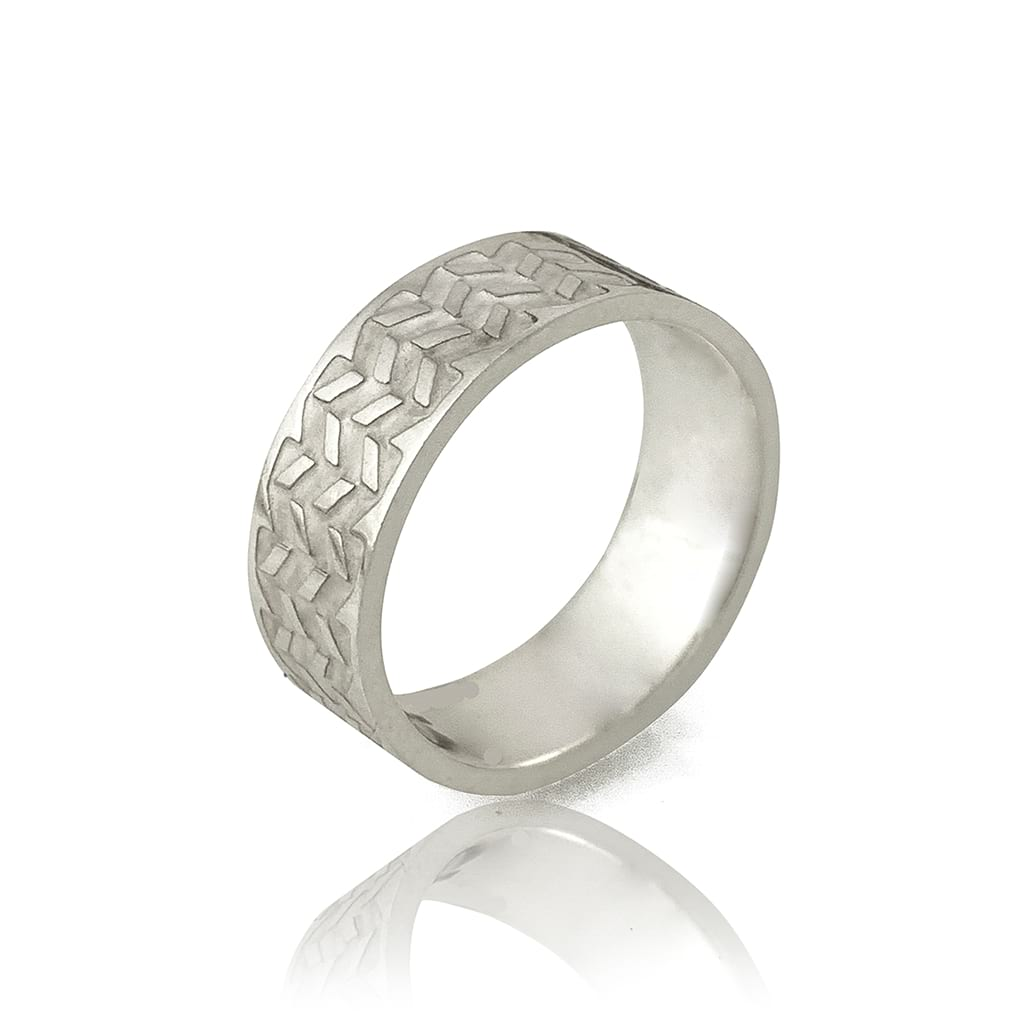 Abstract Silver Ring | Handmade Silver Ring | Antonello Figlia
