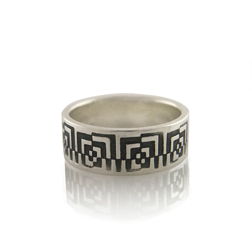 Unisex-Geometric-Design-Ring