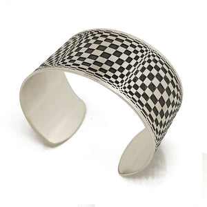 optical silver cuff side view