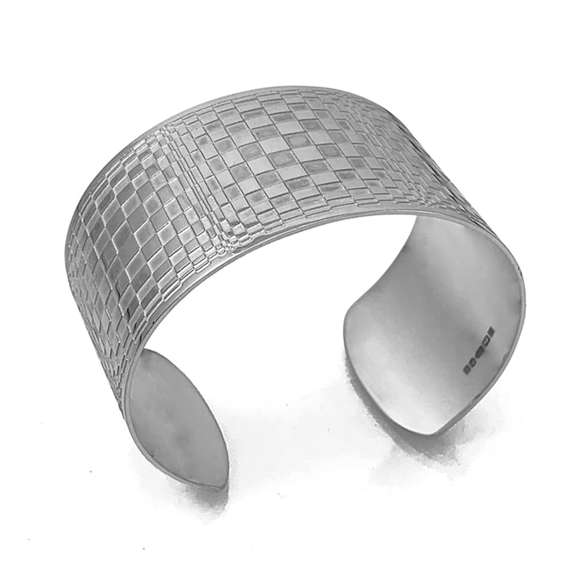 optical silver cuff side polihed