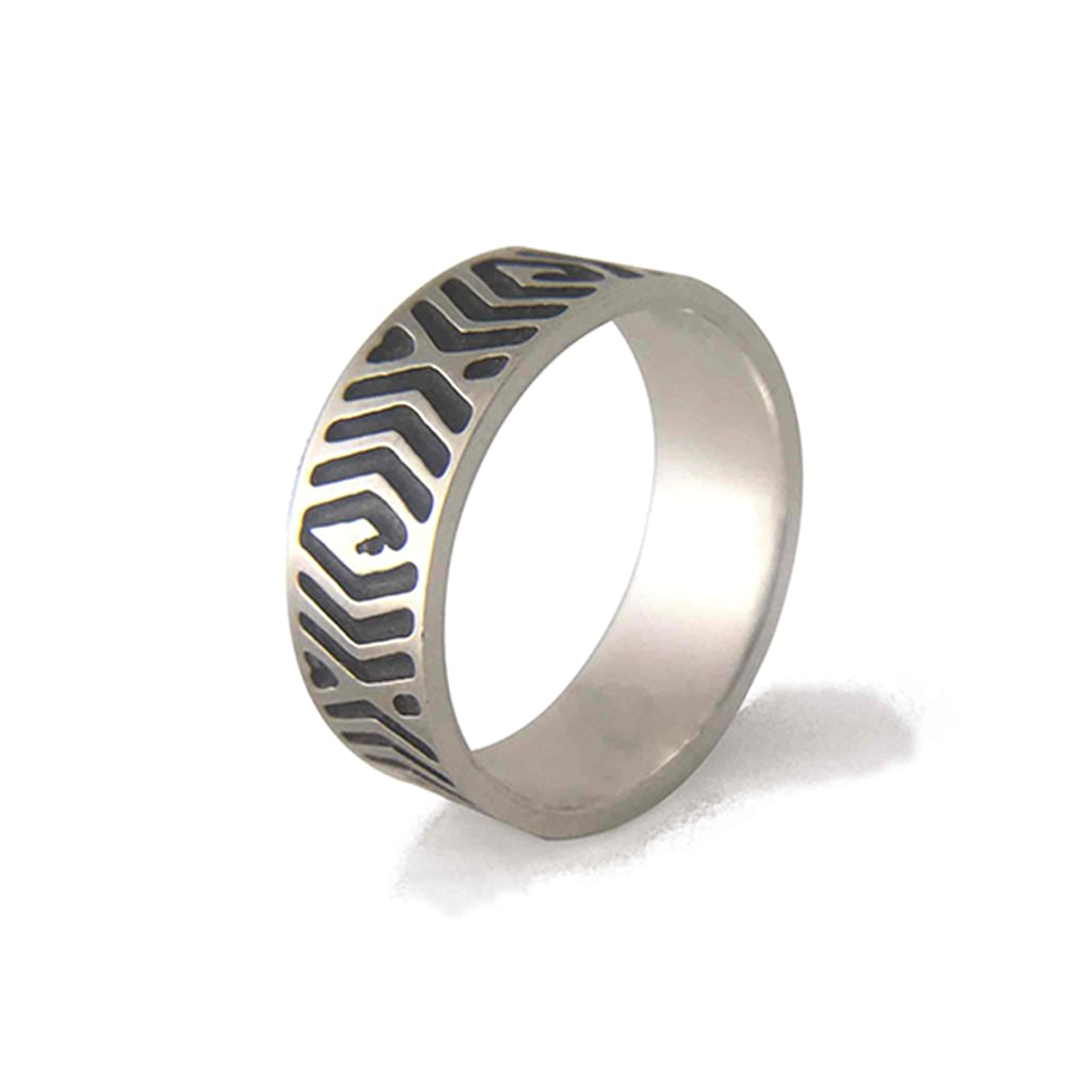 7mm-Wide-Unisex-Abstract-Ring