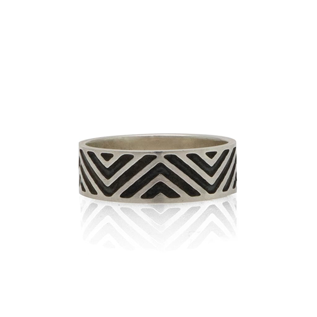 Sterling-Silver-Zig-Zag-Design-Ring- By Antonello Figlia