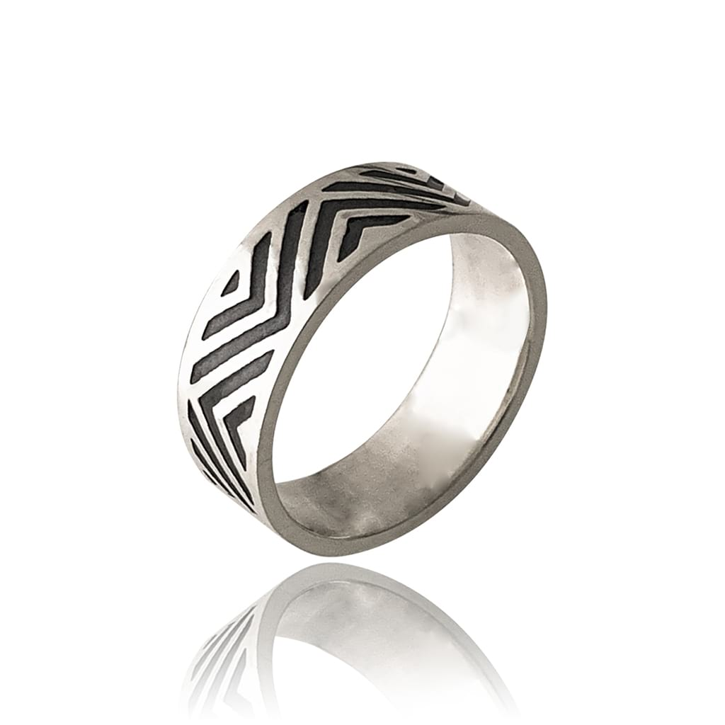 Sterling-Silver-Zig-Zag-Design-Ring