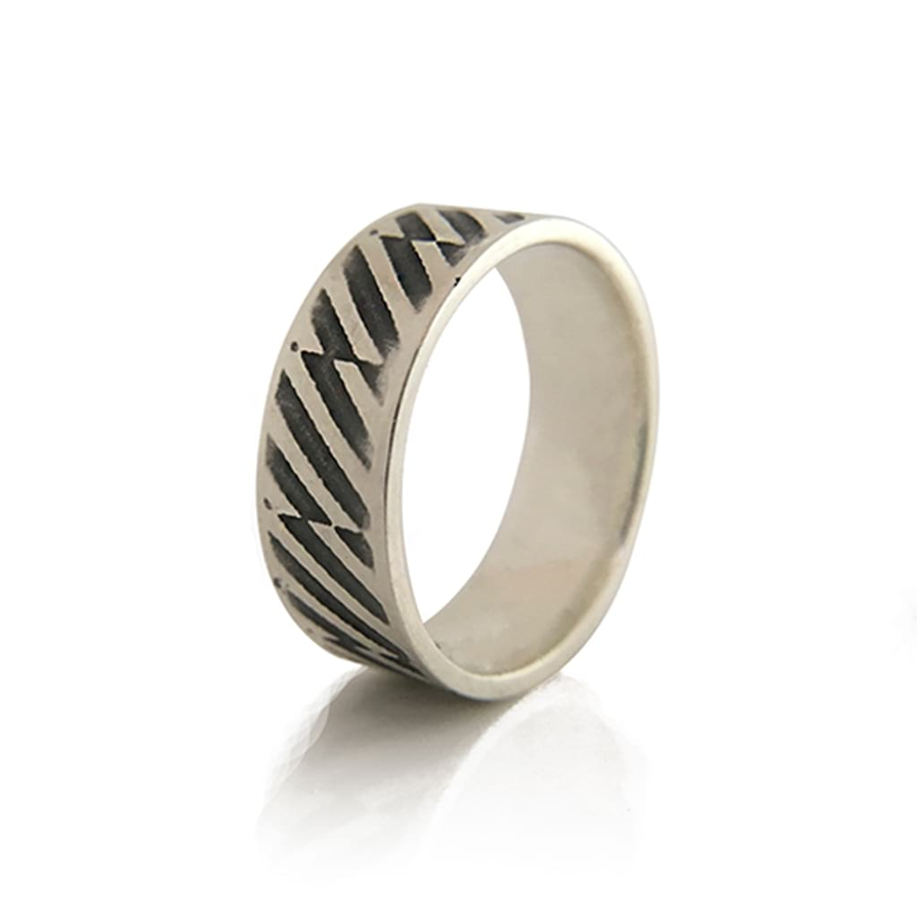 Unisex- 925-Sterling Silver-Oxidised-Ring- By Antonello Figlia