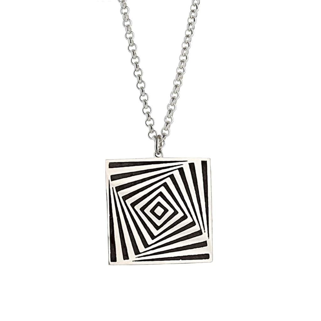 Vortex Square Pendant - Optic - Antonello Figlia