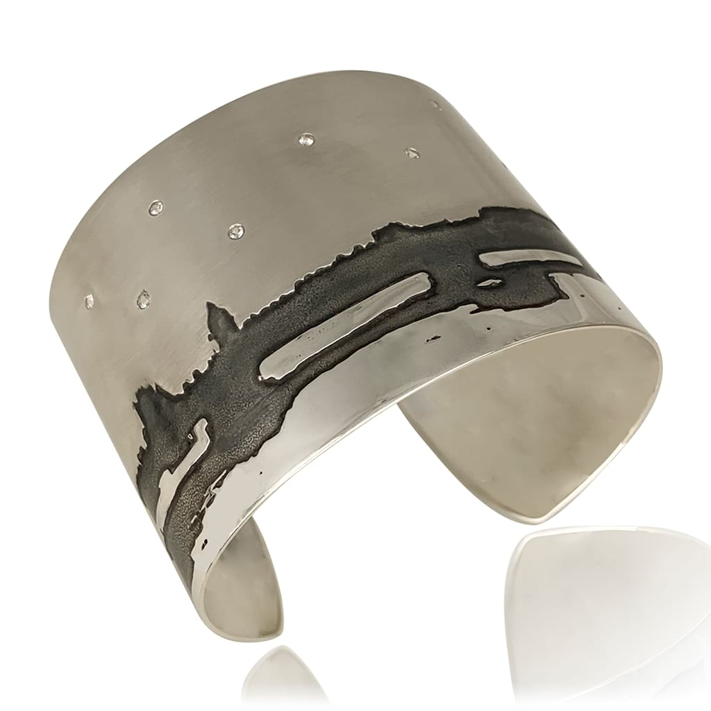 Westminster Bridge Wide Silver Cuff
