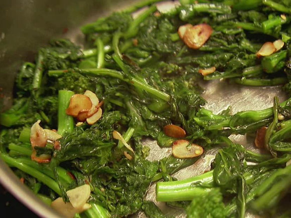 Broccoli Rabe with Roasted Garlic and Lemon