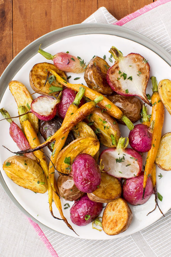 Roasted Root Vegetables with Fresh Thyme