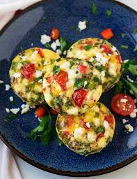 Tomato, Spinach and Feta Egg Bites