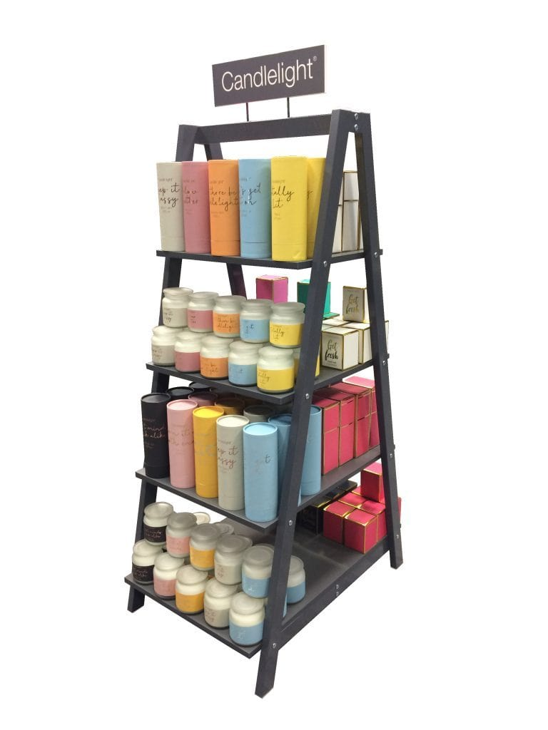 Our exciting new candle display unit for retailers