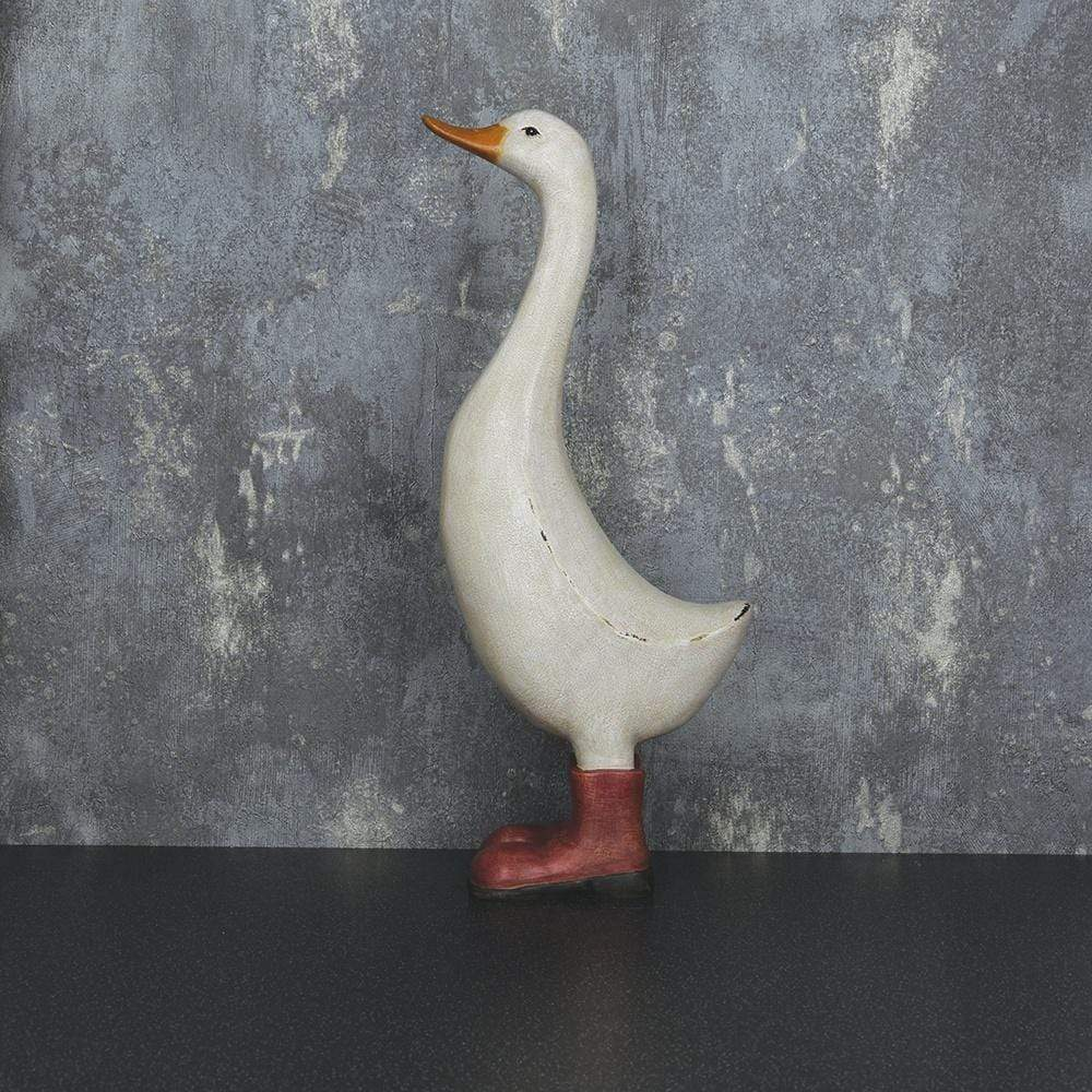 George the Duck Ornament White 32cm 2PK