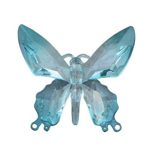 Candlelight Home Animals & Insects Hanging Butterfly Ornament Blue 13.5cm 12PK