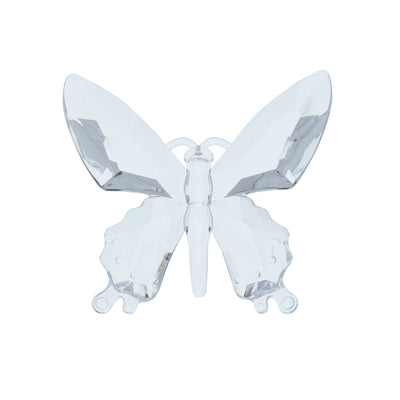 Hanging Butterfly Ornament Clear 13.5cm 12PK