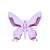 Hanging Butterfly Ornament Fuchsia 13.5cm 12PK