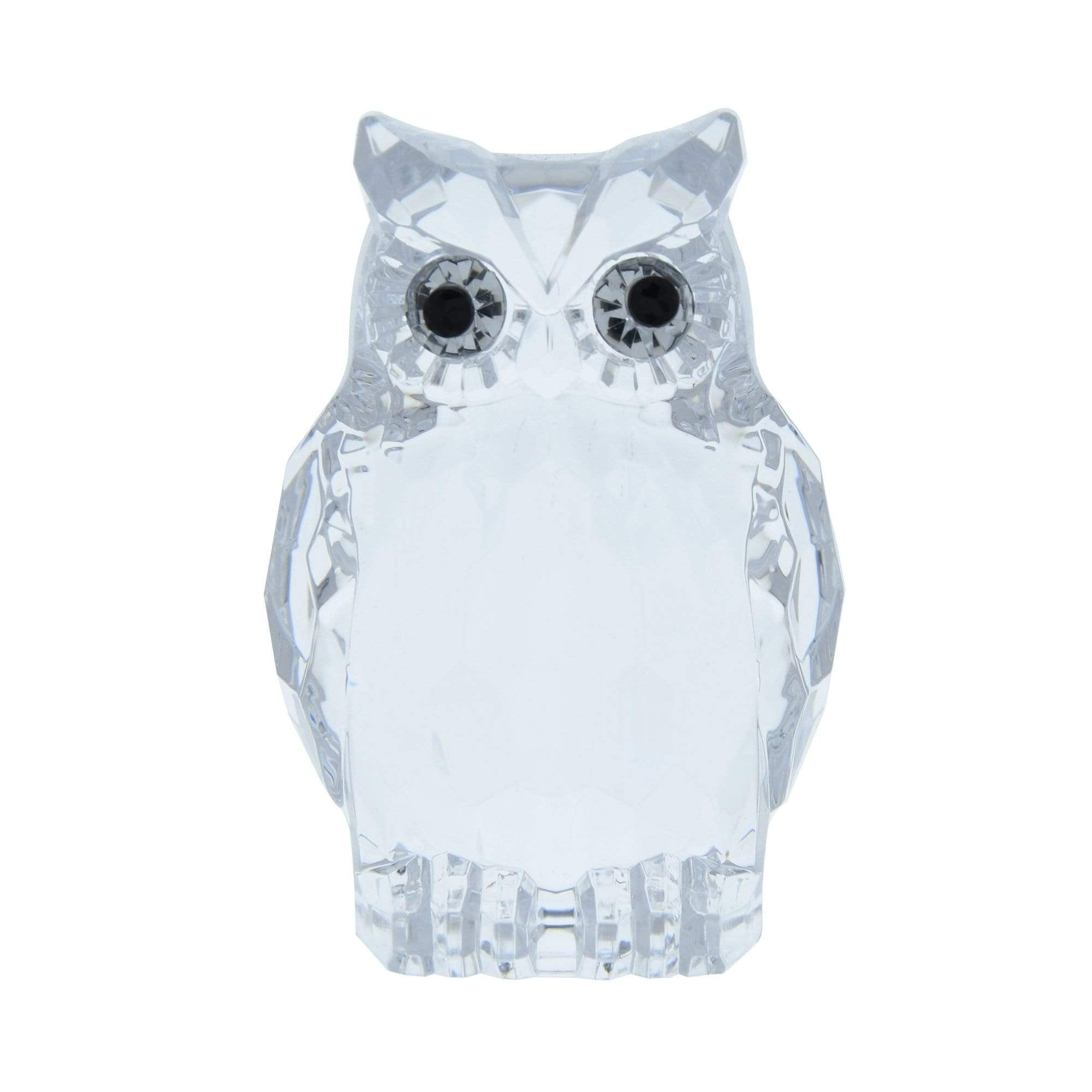 Candlelight Home Animals & Insects Owl Ornament Large Clear 8.5cm 6PK