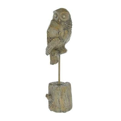 Candlelight Home Animals & Insects Owl Ornament on Stand Light Oak 27.5cm 4PK