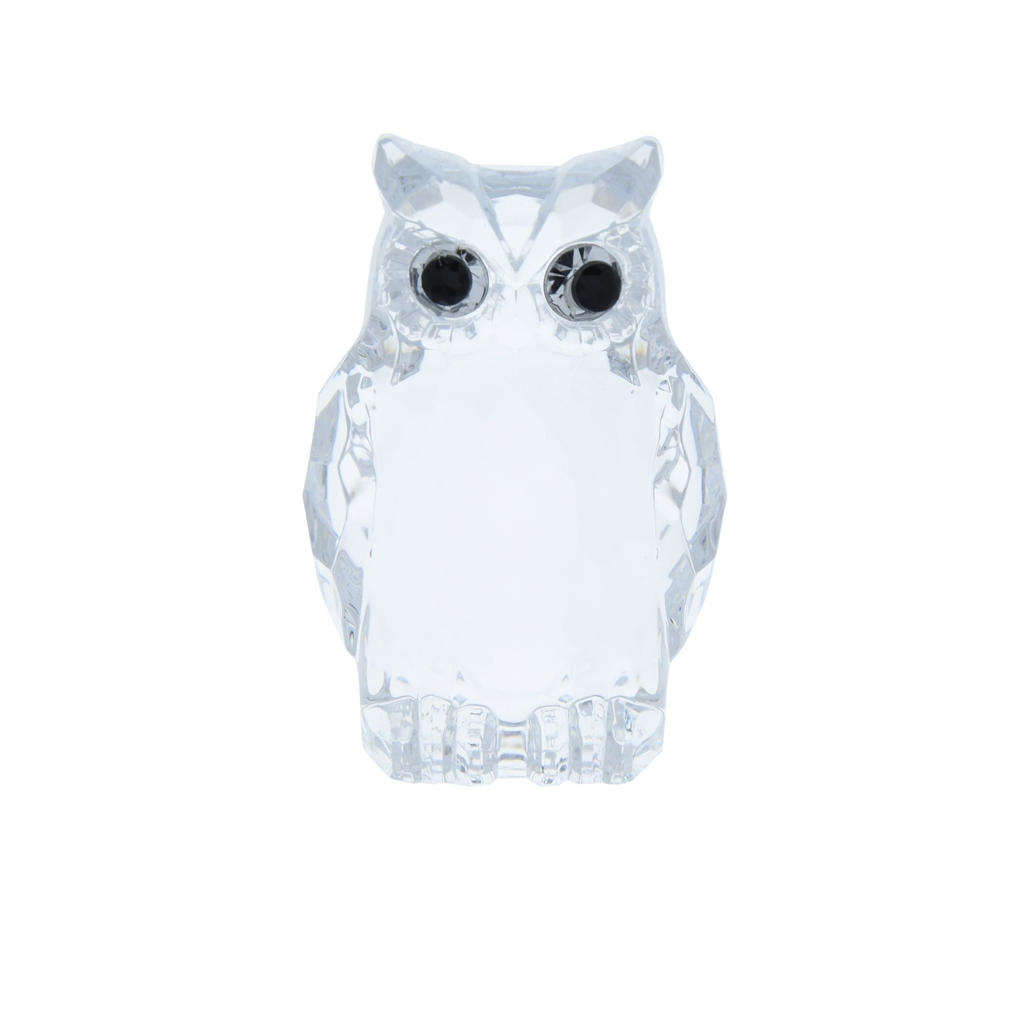 Candlelight Home Animals & Insects Owl Ornament Small Clear 6.5cm 12PK
