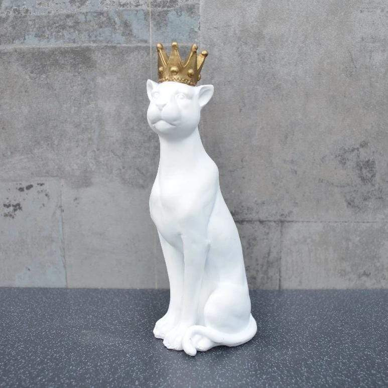 Candlelight Home Animals & Insects Panther with Crown White and Gold 27cm 4PK