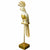 Parrot Ornament on Stand Gold 51cm 1PK