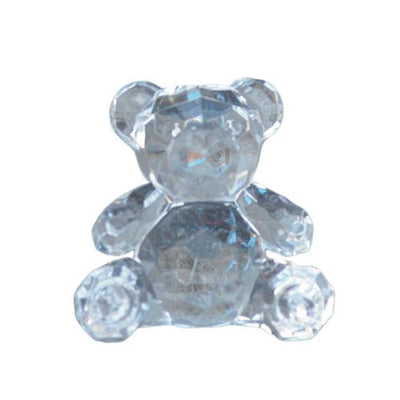 Candlelight Home Animals & Insects Teddy Bear Ornament Small Clear 6.5cm 12PK
