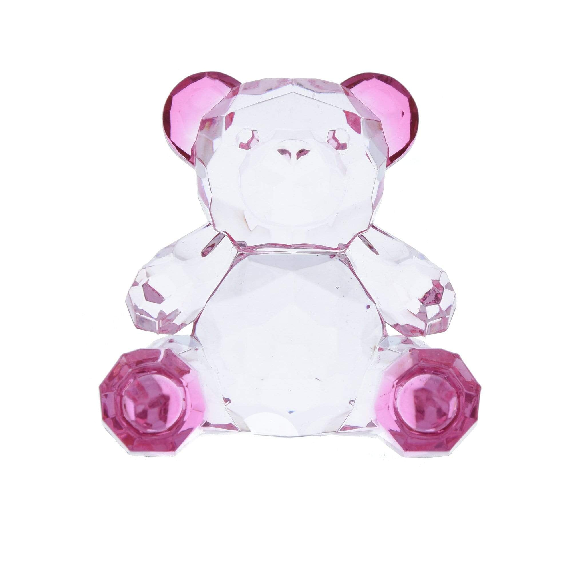 Candlelight Home Animals & Insects Teddy Bear Ornament Small Pink 6.5cm 12PK