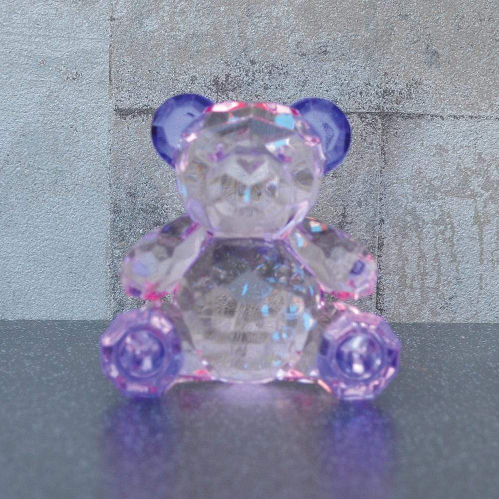 Candlelight Home Animals & Insects Teddy Bear Ornament Small Purple 6.5cm 12PK