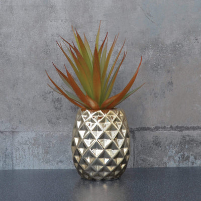 Candlelight Home Artificial Plants & Flowers Artificial Plant in Pineapple Pot Gold 24cm 6PK