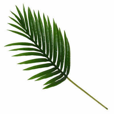 Candlelight Home Artificial Plants & Flowers Faux Palm Leaf Green 65cm