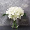 Candlelight Home Artificial Plants & Flowers The Flower Patch Hydrangea in Glass Vase White 20cm 6PK