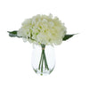 Candlelight Home Artificial Plants & Flowers The Flower Patch Hydrangea White in Glass Vase 20cm 6PK
