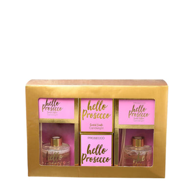 Candlelight Home Boxed Candle 4PC Brights Gift Set Hello Prosecco in Gift Box 1PK
