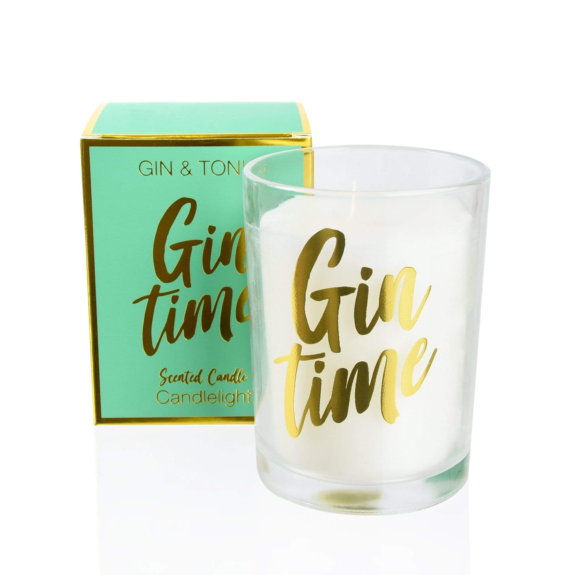 Candlelight Gin and Tonic Scented Candle in Gift Box Gin and Tonic Scent 220g 4PK